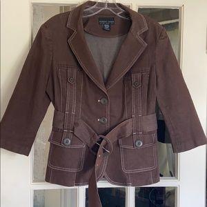 Robert Louis Belted Mocha Brown Short Jacket